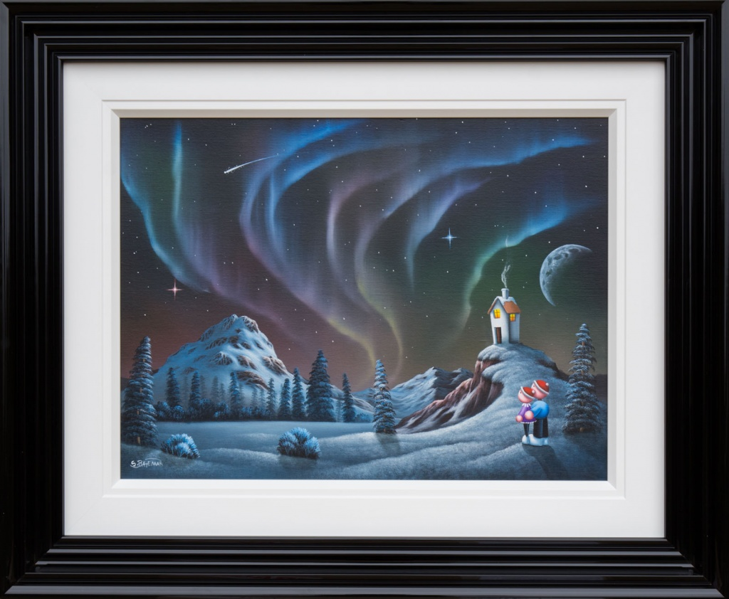 Northern Lights original oil painting by Scott Bateman