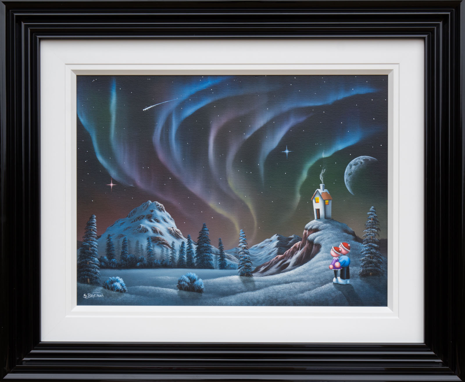 Northern Lights original oil painting by Scott Bateman