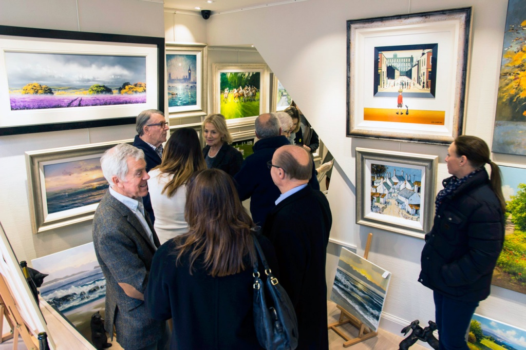 Forest Gallery opening exhibition weekend interior photo