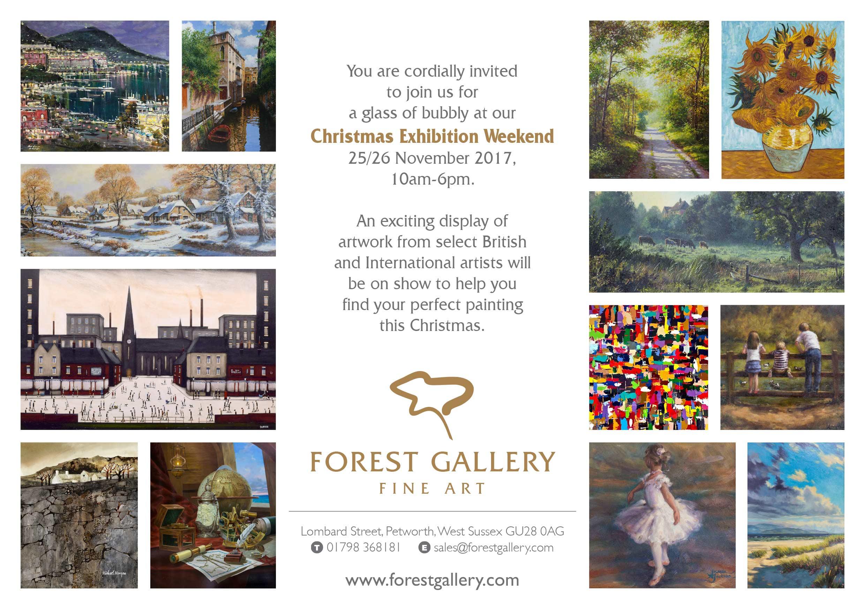 Christmas Exhibition Invitation