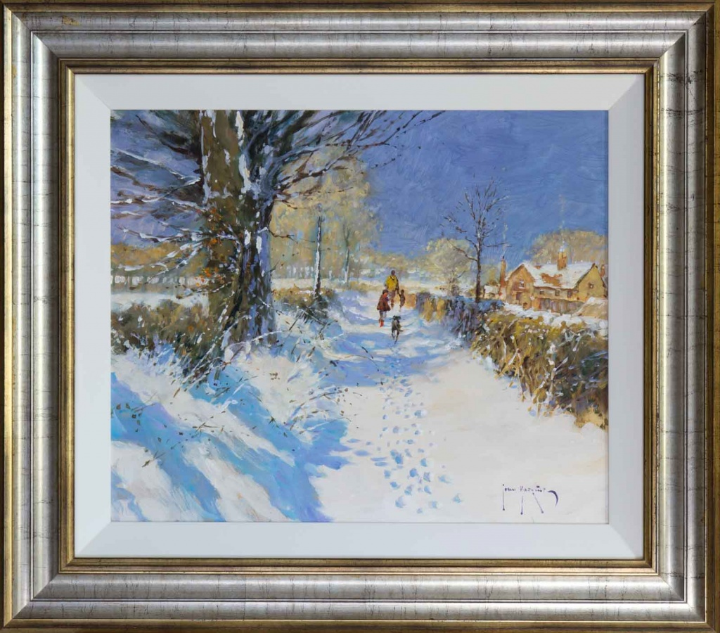 John Haskins Snow Paintings