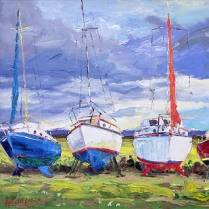 John Lawrence Pallet Knife Boat Painting