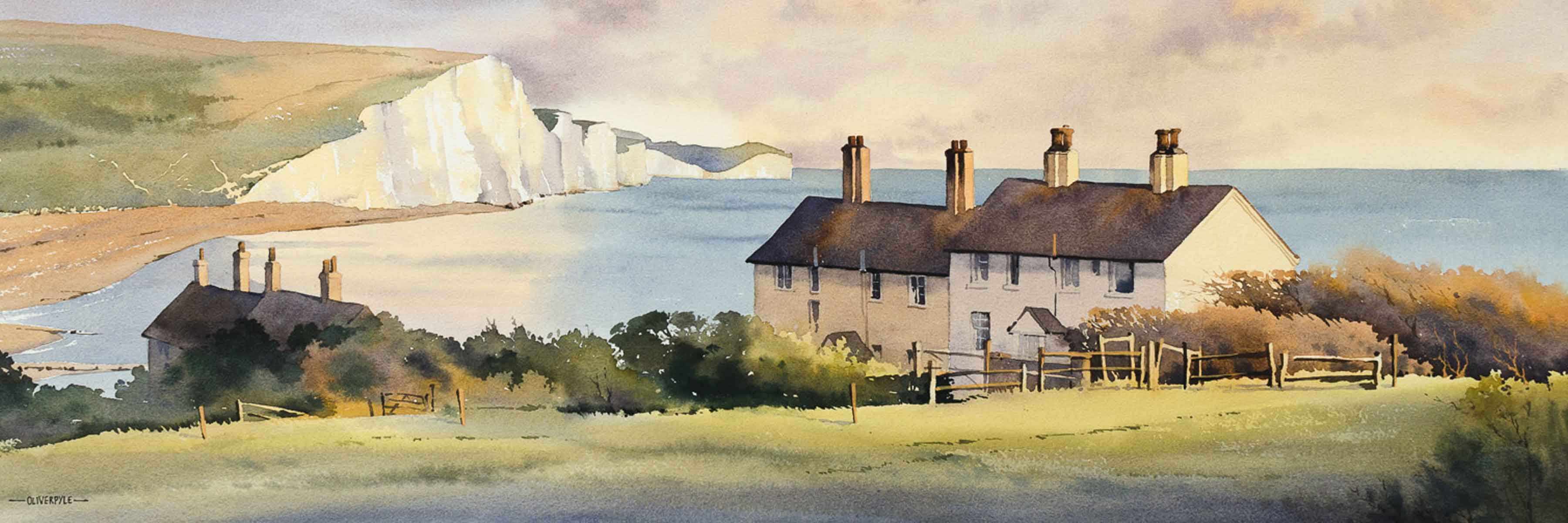 Watercolour Painting of Sussex by Oliver Pyle