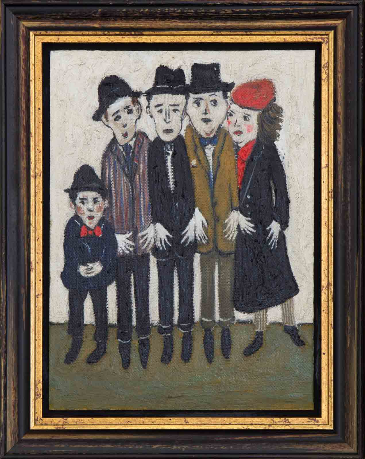 Family Day At The Seaside after L.S Lowry