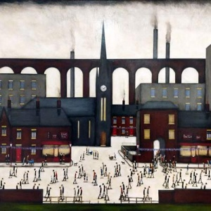 Sean Durkin Lowry Style Paintings Naive Contemporary
