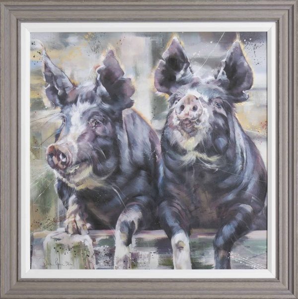 print of pigs by Debbie Boon