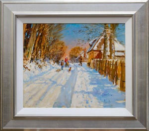 Snowfall, Church Lane,