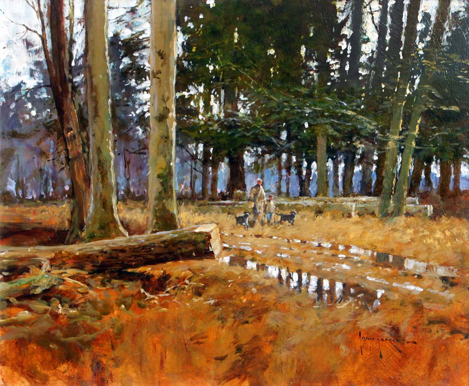 Autumn Walk in the Forest, John Haskins