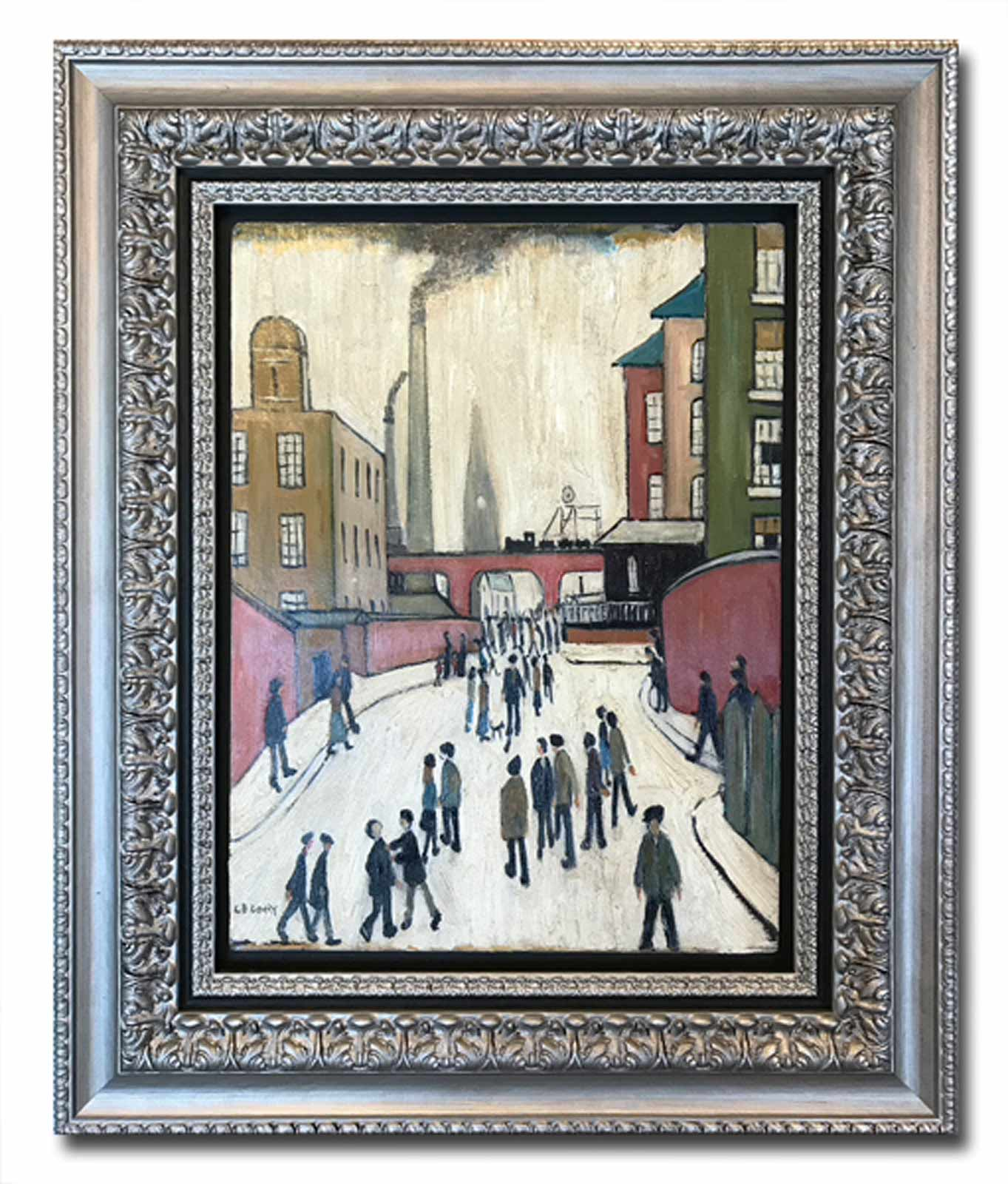 Old Street Scene after L.S.Lowry, David Henty