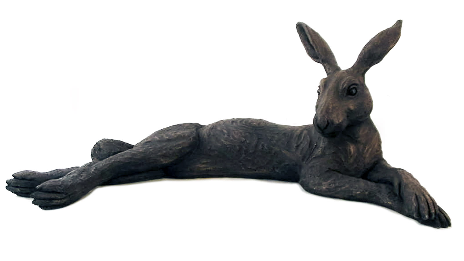 Large Reclining Hare, Suzie Marsh