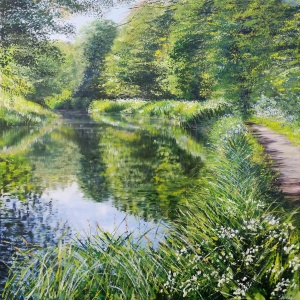 Spring Beside the Canal, Church Crookham,