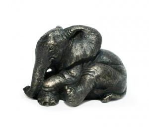 Thulani Lying Elephant Calf,