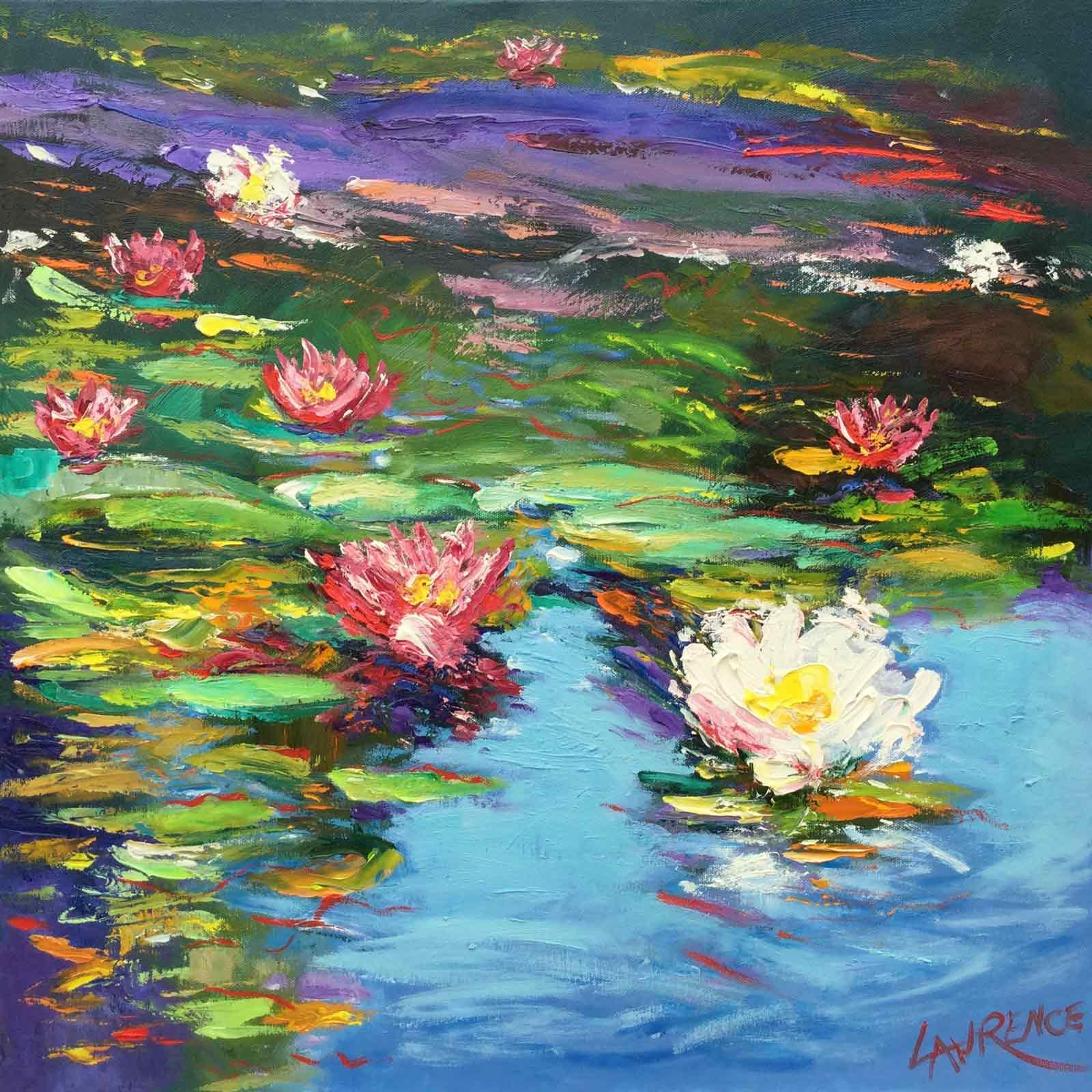 Waterlilies Opening in the Sunshine, John Lawrence