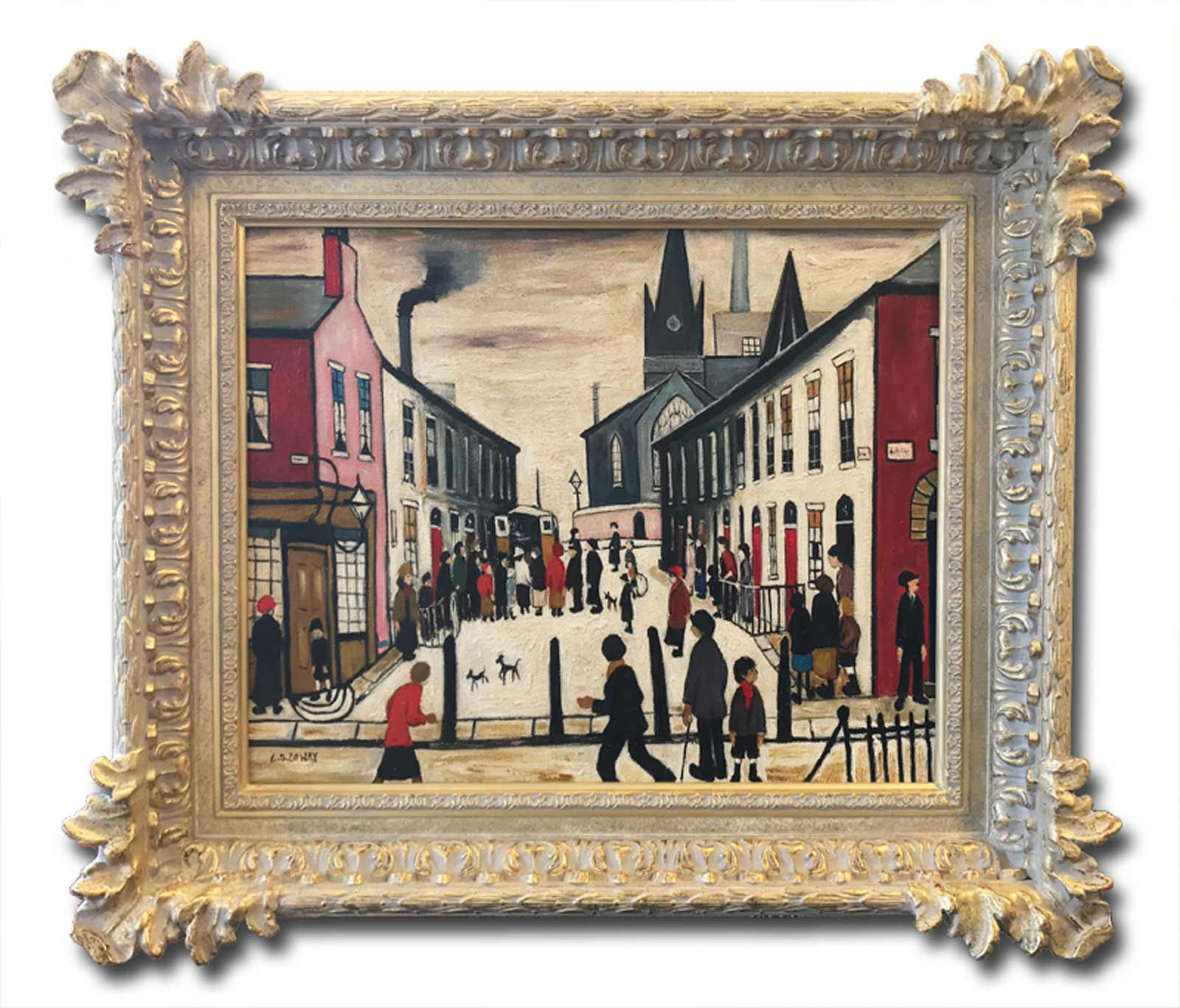 The Fever Van after L.S.Lowry, David Henty