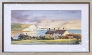 Cliffs and Cottages, Cuckmere Haven,