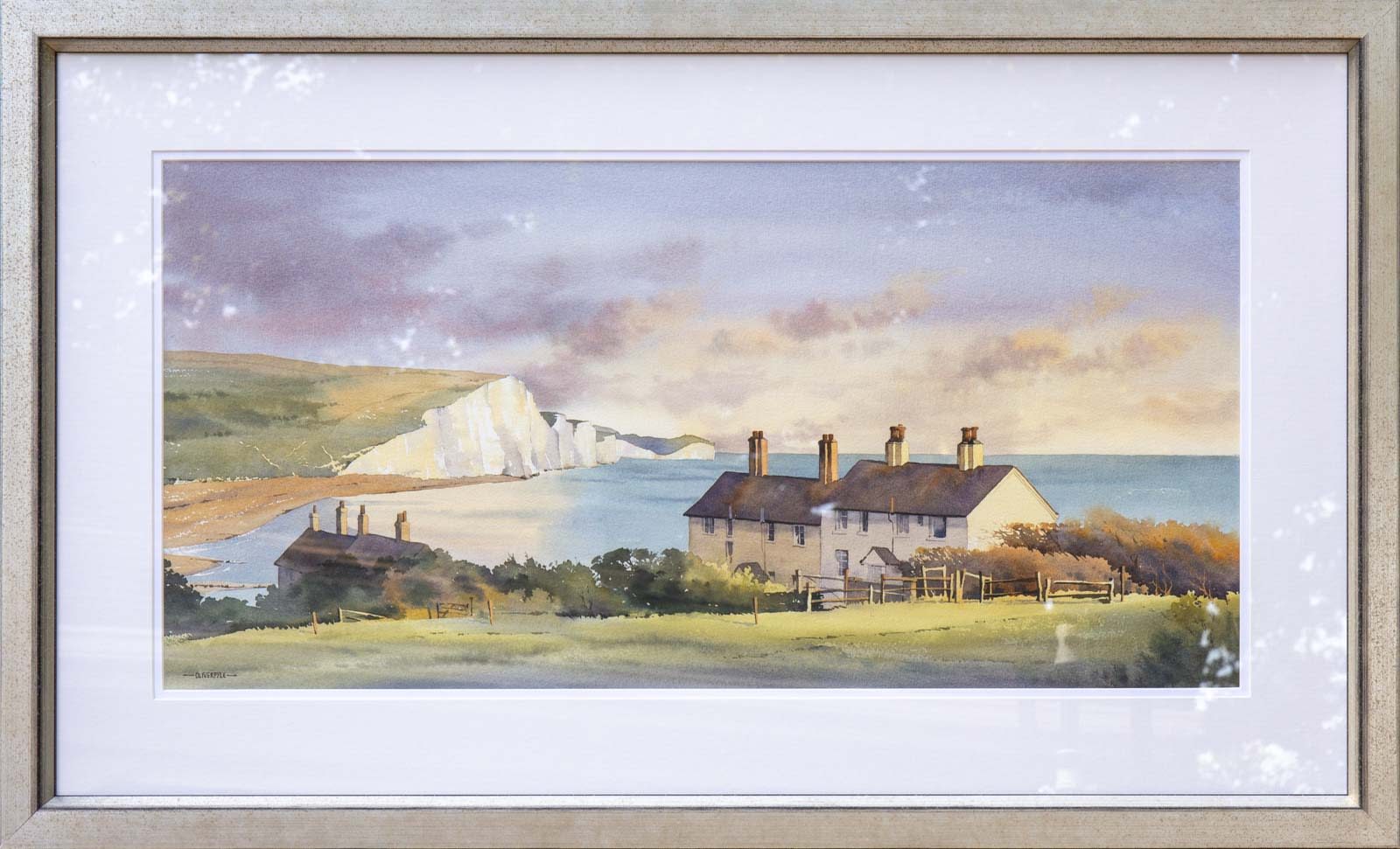 Cliffs and Cottages, Cuckmere Haven, Oliver Pyle
