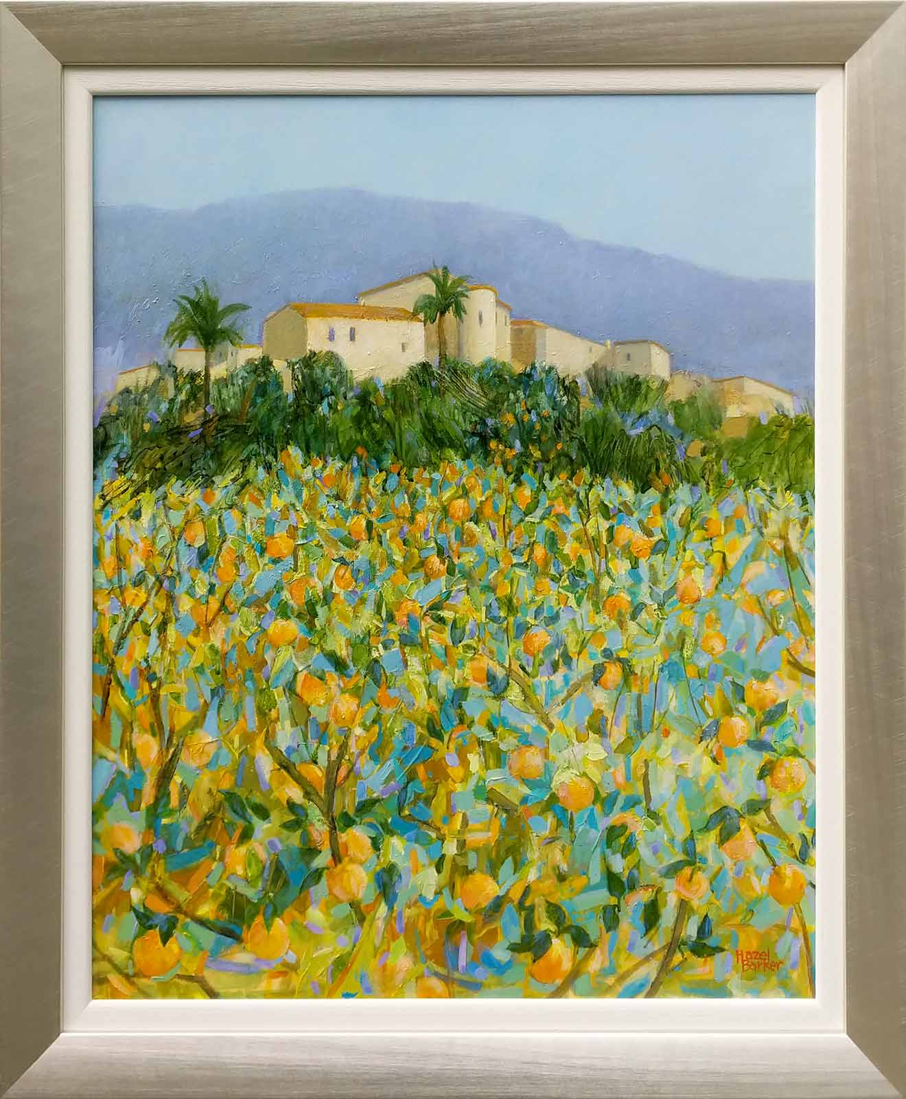 Hazy Sunshine Over Orange Groves, Andalucia, Hazel Barker