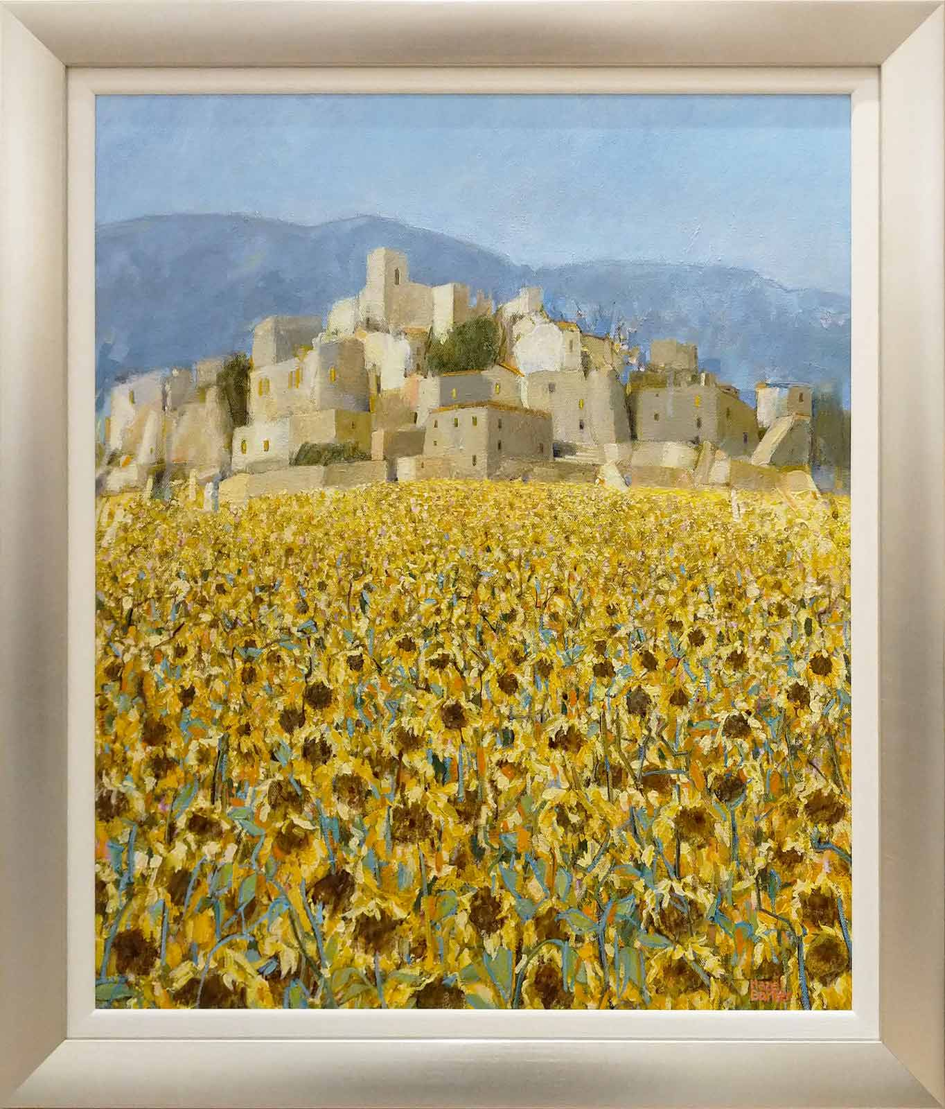 Late Sunflowers in September, Andalucia, Hazel Barker
