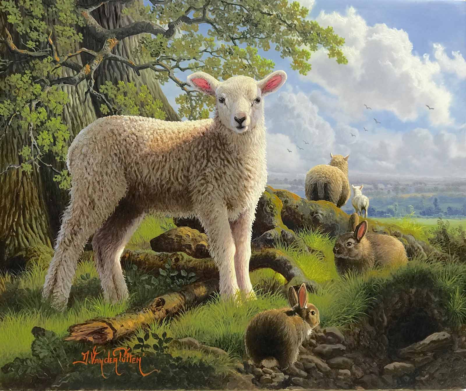 Spring Lamb and Friends, Daniel Van der Putten