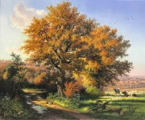 Autumn Country Lane, Near Everdon,