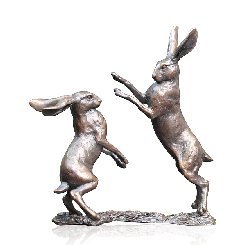 Small Hares Boxing