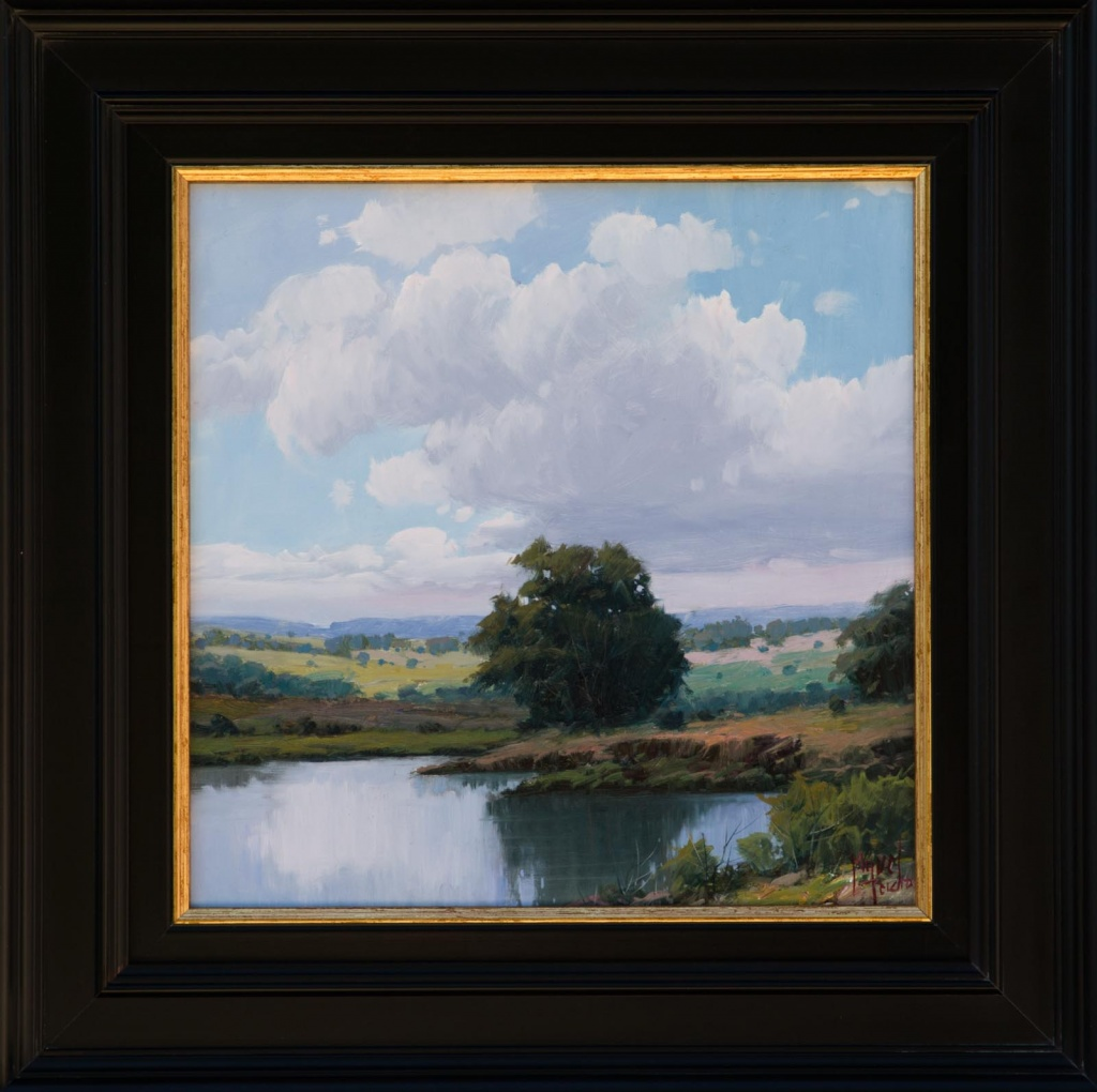 Spanish paintings by artist Miguel Pedro painting a traditional landscape