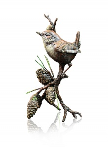 Wren with Pinecones,