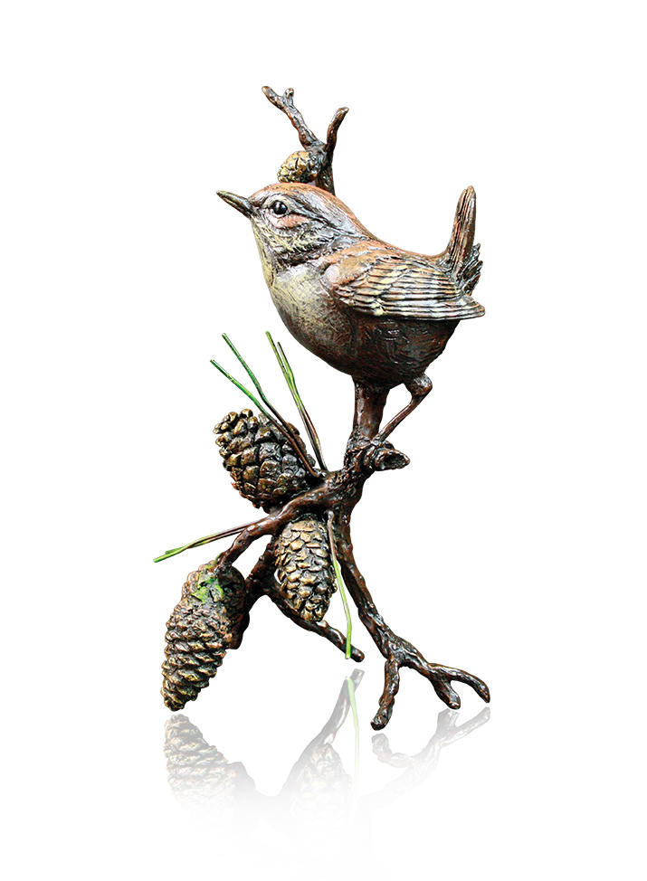 Wren with Pinecones