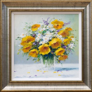Bouquet of Yellows and Whites,
