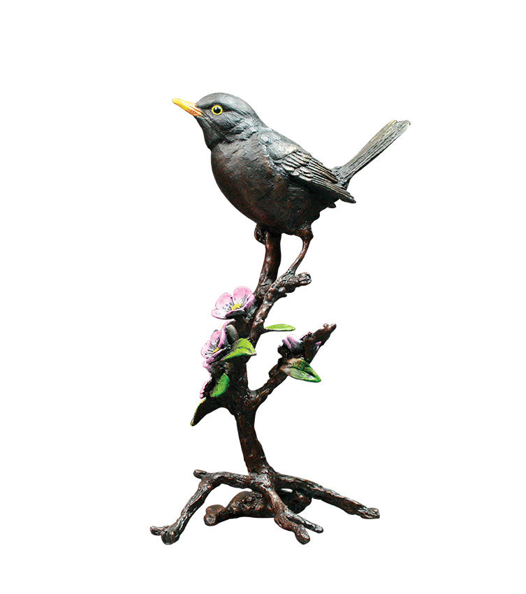 Blackbird with Blossom