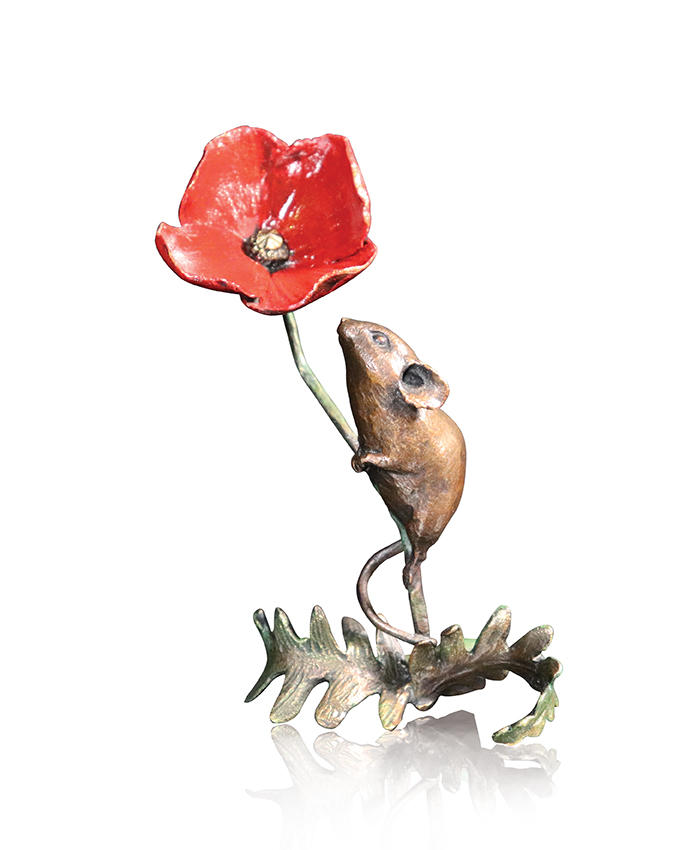 Mouse With Poppy