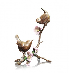 Apple Blossom, Pair of Wrens,