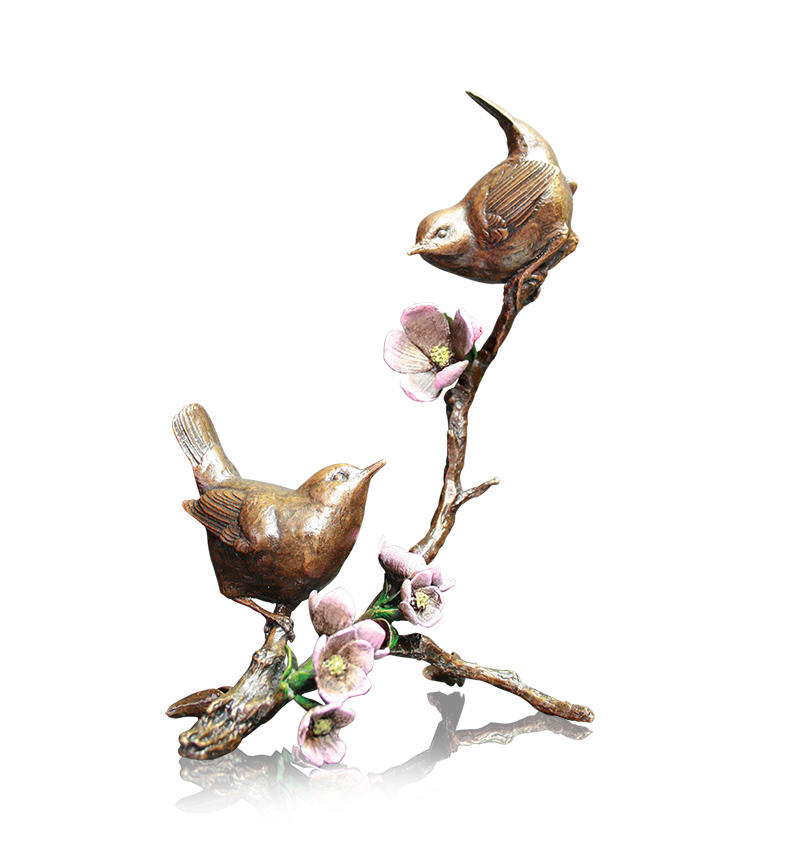 Apple Blossom, Pair of Wrens