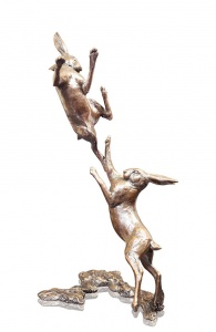 Medium Hares Boxing,