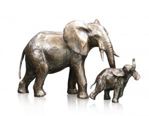 Medium Elephant Cow & Calf,
