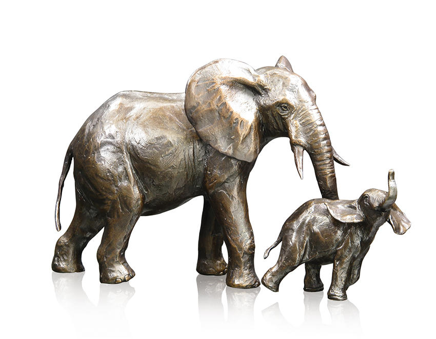 Medium Elephant Cow & Calf, Michael Simpson