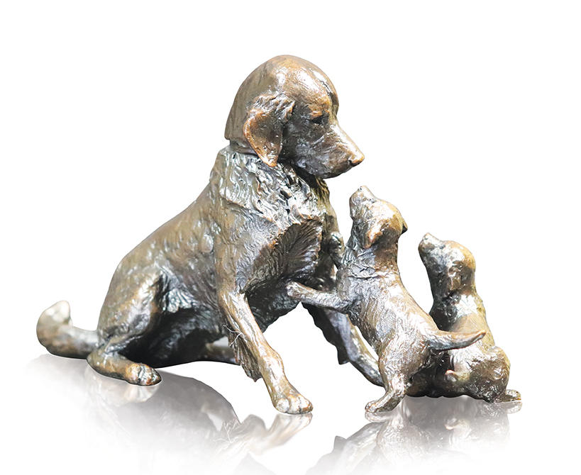 Retriever with Puppies, Michael Simpson