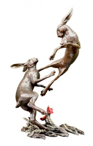 Large Hares Boxing,