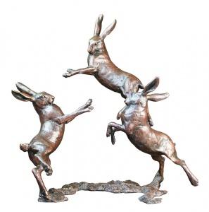 Medium Hares Playing,