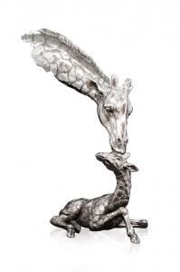 Giraffe & Calf,