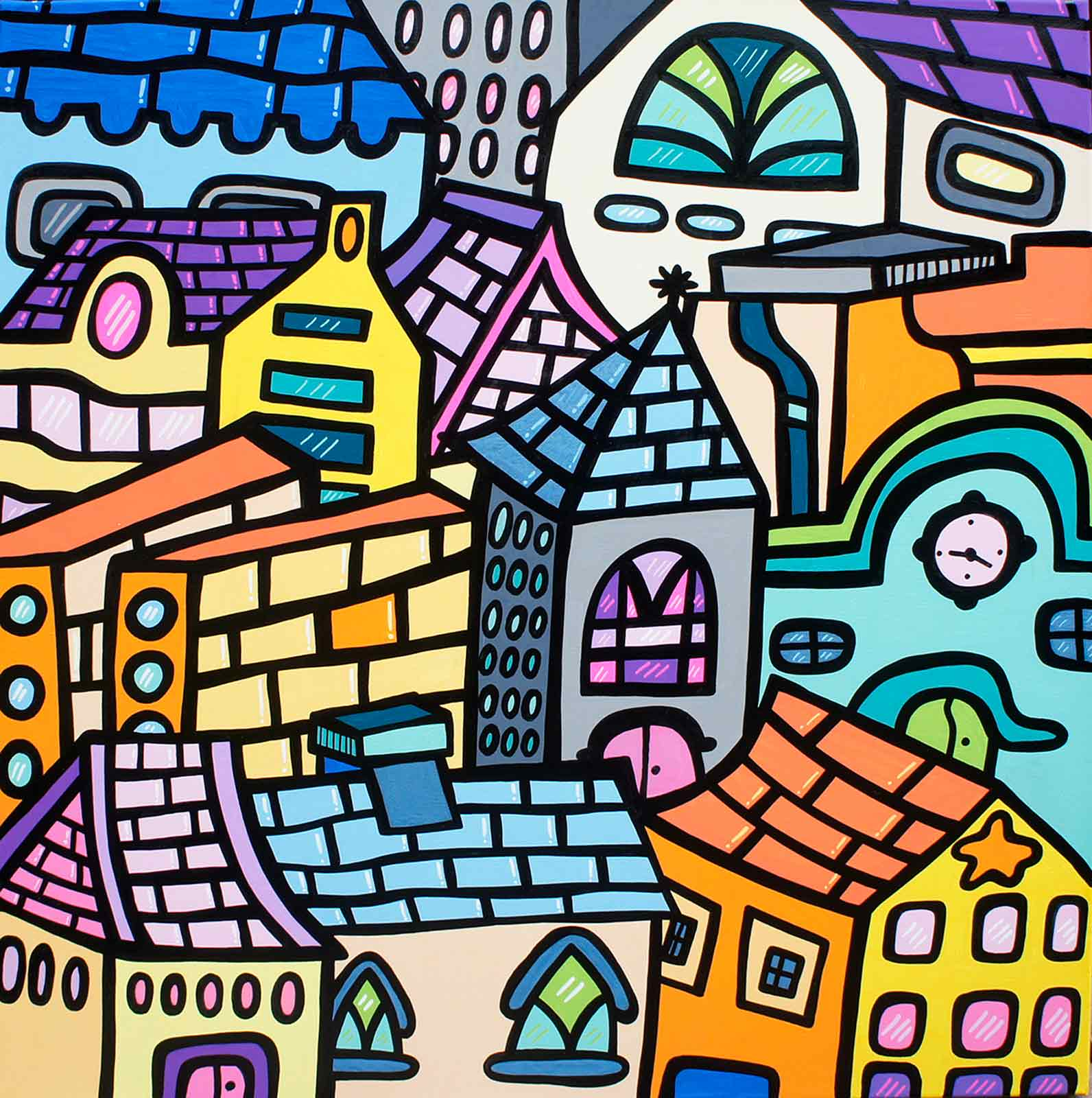 naive contemporary art by Kev Munday