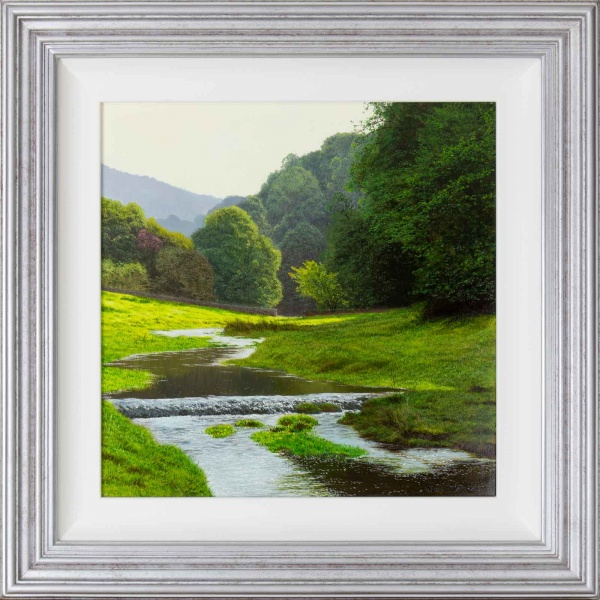 original painting of lathkill dale by artist michael james smith