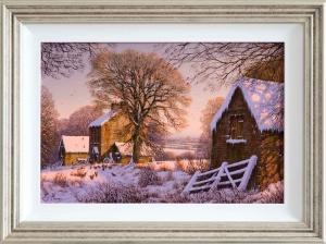 Snowfall at the Farm,