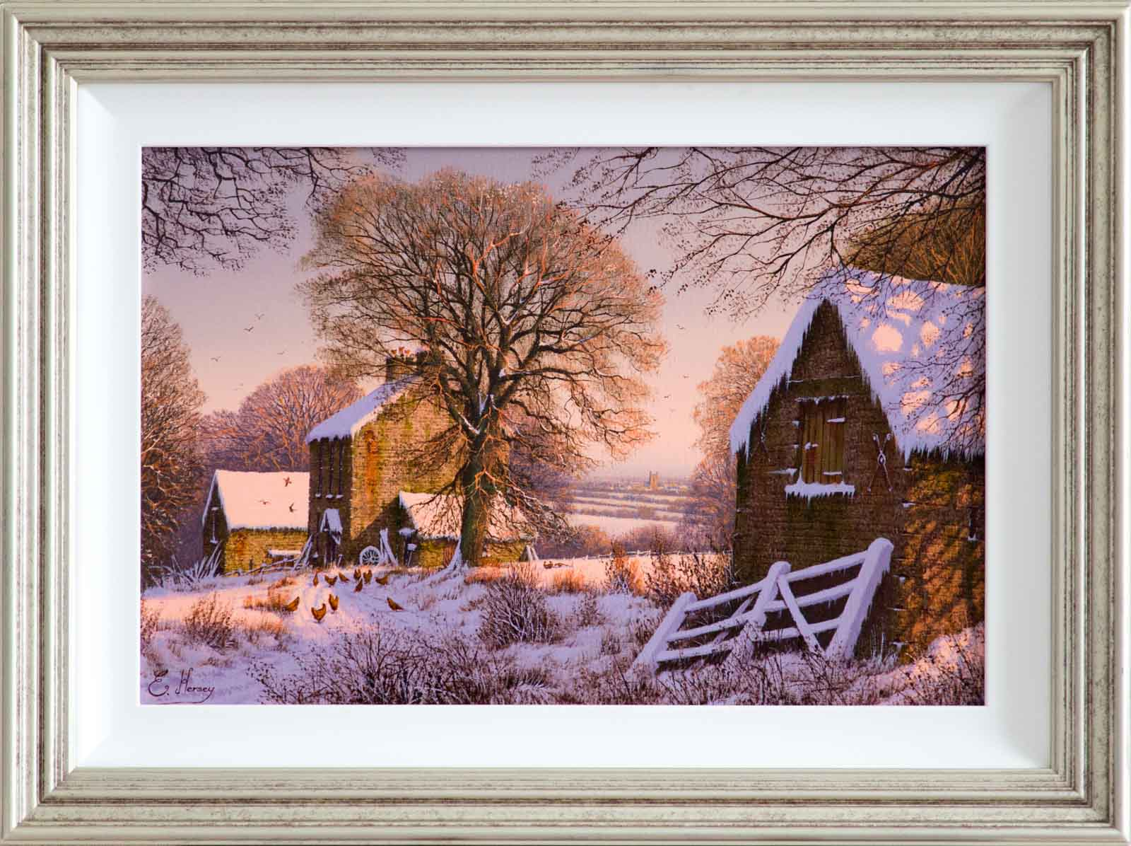 Snowfall at the Farm, Edward Hersey