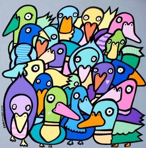 Feeding the Ducks,