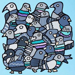 Feeding the Pigeons,