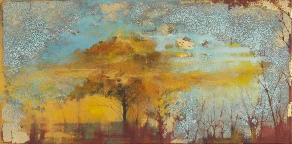abstract painting by japanese artist hiroko lewis