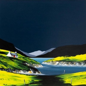 Striking contemporary landscape of Elan Valley by the talented British artist Jay Nottingham