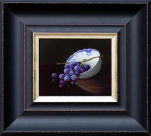 Grapes in Porcelain Bowl,