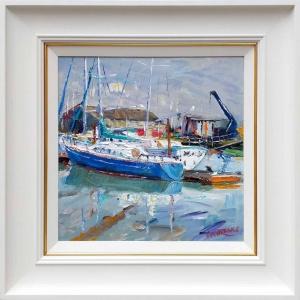Moored Boats, Suffolk,